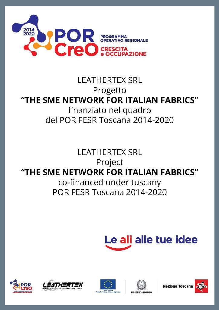 PROGETTO THE SME NETWORK FOR ITALIAN FABRIC