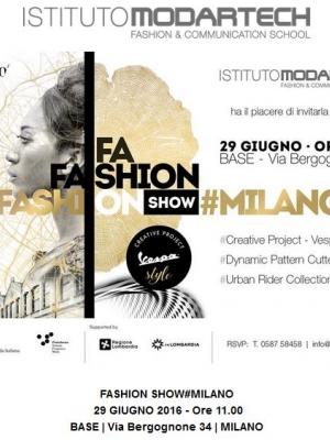 Fashion Show Milano Moda Graduate dell'Istituto Modartech  29 Giugno 2016