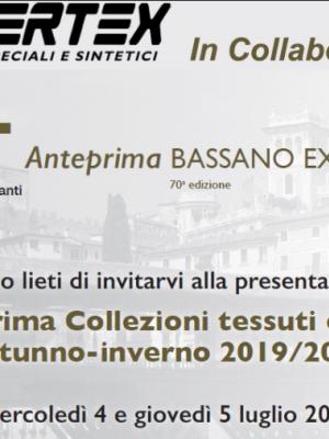 ANTEPRIMA  COLLEZIONI TESSUTI AI 2019-2020 ARTT BASSANO EXPO