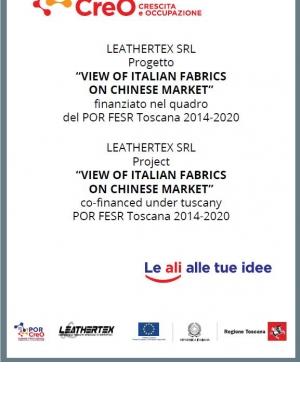 internationalization project View of Italian Fabrics on Chinese Market